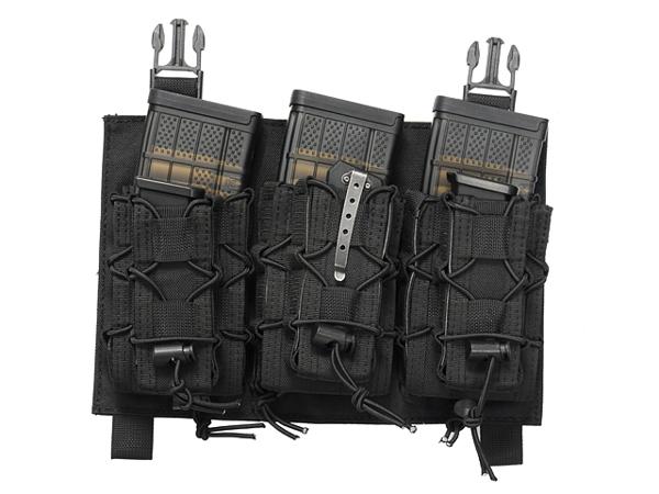 Bild på 8FIELDS Buckle Up Speed Triple Rifle/Pistol Mag Pouch - Black