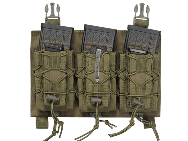 Picture of 8FIELDS Buckle Up Speed Triple Rifle/Pistol Mag Pouch - OD