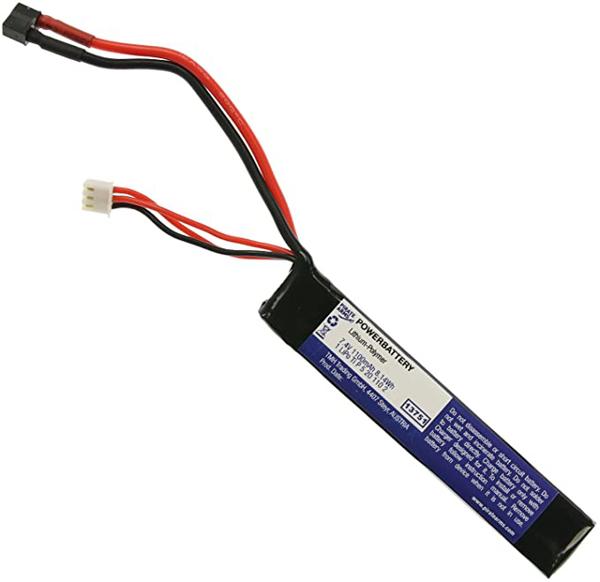 Picture of LiPo 11.1V 1100mAh 20C Stock Tube Type T-Plug Dean
